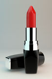 Closeup of red lipstick Stock Photography