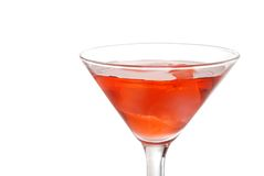 Closeup red martini with ice Royalty Free Stock Photo