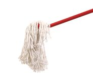 Closeup of red mop for cleaning. Stock Photography