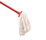 Closeup of red mop for cleaning. Royalty Free Stock Photography