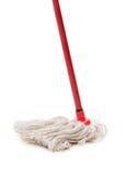 Closeup of red mop Stock Photos