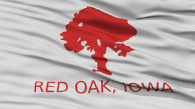 Closeup of Red Oak City Flag Royalty Free Stock Photos