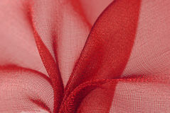 Red organza fabric Royalty Free Stock Photo