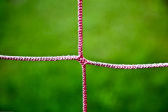 Closeup Of Red Soccer Net String Royalty Free Stock Photography
