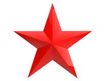 Closeup Red Star Stock Image