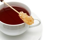 Closeup of red tea with sugar Royalty Free Stock Image