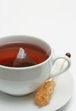 Closeup of red tea with sugar Royalty Free Stock Images
