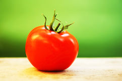 Closeup on red tomato Stock Images