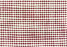 Closeup of red and white checkered fabric Royalty Free Stock Photo