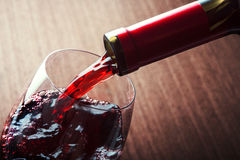 Closeup of red wine Stock Photography