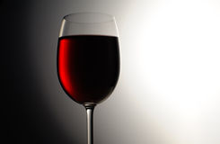 Closeup of red wine wineglass Royalty Free Stock Photography