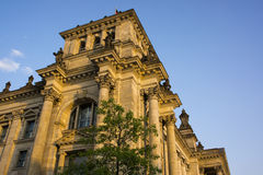 Closeup of the Reichstag building Stock Image