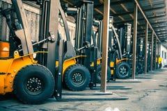 Closeup reliable heavy loader. Heavy duty equipment. Stock Image