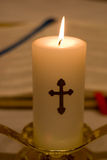 Closeup of Religious Candle Stock Images