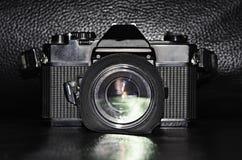 Film camera. Closeup of a retro camera Stock Photography