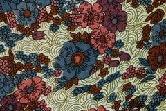 Closeup of retro fabric pattern Royalty Free Stock Photos