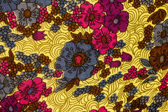 Closeup of retro fabric pattern Stock Image