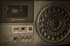 Closeup retro radio,vintage filtered. Stock Photos