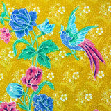 Closeup of retro tapestry fabric pattern Royalty Free Stock Photo