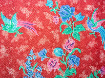 Closeup of retro tapestry fabric pattern with classical image Royalty Free Stock Image