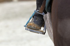 Closeup of a Riding Stirrup Stock Photo