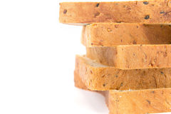 Closeup rim of cereal and black sesame bread stacking by selecti Royalty Free Stock Photography