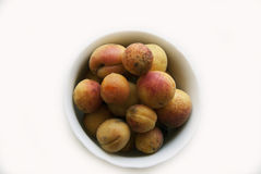 Closeup of ripe apricots Royalty Free Stock Photography