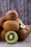 Closeup of ripe kiwi Stock Photos