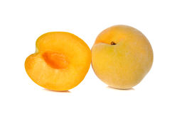 Closeup ripe peach on white Stock Image