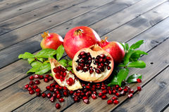 Closeup of ripe pomegranate fruit Royalty Free Stock Image