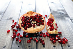 Closeup of ripe pomegranate fruit Royalty Free Stock Photos