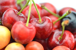 Closeup of ripe and sweet cherries Royalty Free Stock Image