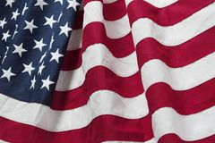 USA flag. Closeup of rippled American flag Royalty Free Stock Photo