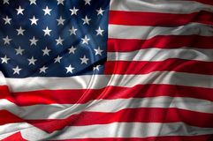 USA flag. Closeup of rippled American flag Royalty Free Stock Photo