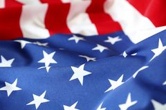 USA flag. Closeup of rippled American flag Stock Photography
