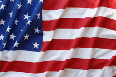 USA flag. Closeup of rippled American flag Stock Image