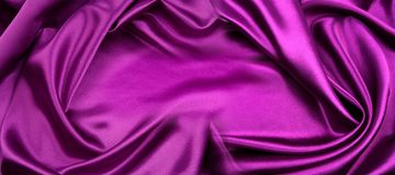 Purple silk fabric royalty free stock images
