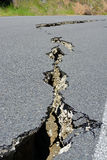 Closeup of Road Cracks Following Massive Kaikoura Earthquake, Ne Royalty Free Stock Image