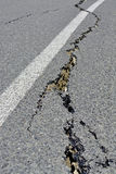 Closeup of Road Cracks Following Massive Kaikoura Earthquake, Ne stock image