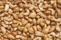 Closeup of Roasted Cashew Stock Photo