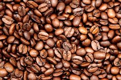 Coffee beans. Closeup of roasted coffee beans Royalty Free Stock Image