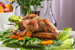 Closeup of roasted turkey for thanksgiving Stock Image