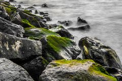 Closeup of rocky shore Royalty Free Stock Photos