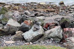 Closeup of a Rocky Shoreline Stock Images