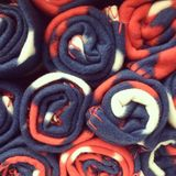 Closeup roll blanket Stock Images