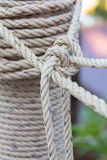 Closeup roll of rope Royalty Free Stock Photo