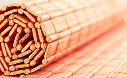 Rolled bamboo mat Royalty Free Stock Images