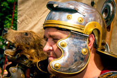 Closeup of Roman soldier Stock Images
