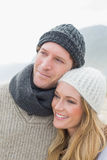 Closeup of a romantic young couple Royalty Free Stock Image