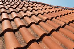 Closeup of roof tiles Stock Images